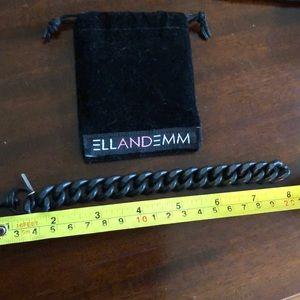 Ell and Emm black matte chain link bracelet